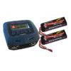 PACK CHARGEUR COBRA CH100V2 + 2 X LIPO 3S 5000MAH (FPACK01)